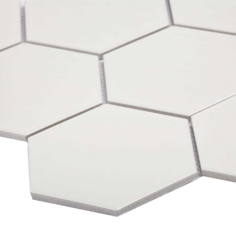 Мозаика Starmosaic Hexagon big белая керамическая 256х295х6 мм матовая
