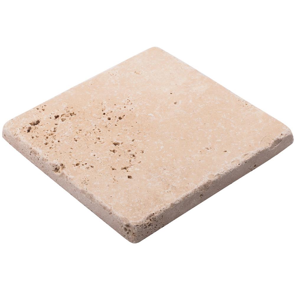 Мозаика Stone4home Provance травертин из натурального камня 100х100х10 мм матовая (9 шт. на листе)