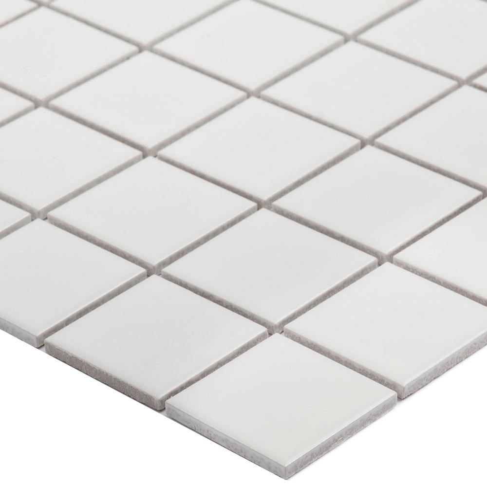 Мозаика Starmosaic White Matt белая керамическая 306х306х6 мм матовая