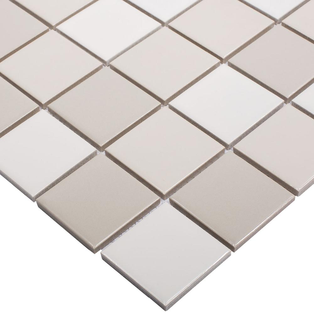 Мозаика Starmosaic Grey Mix Glossy серая керамическая 306х306х6 мм глянцевая