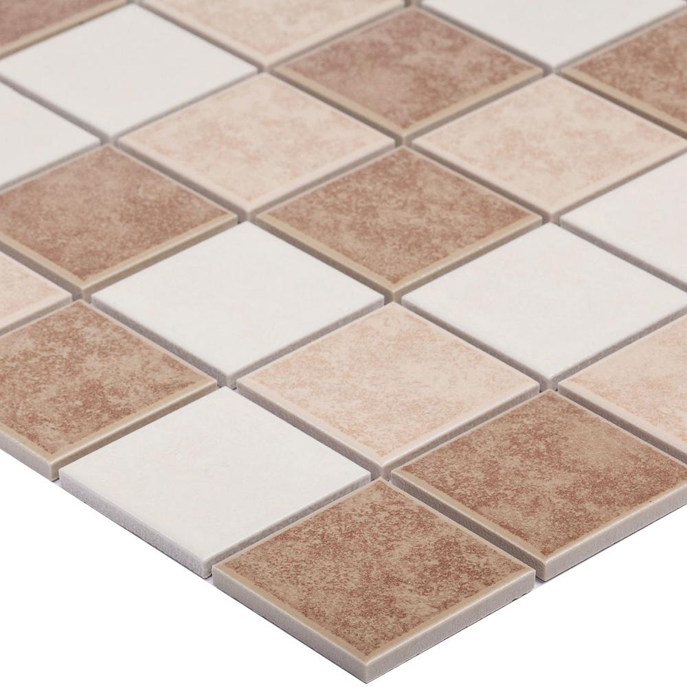 Мозаика Starmosaic Beige Matt бежевая керамическая 306х306х6 мм матовая