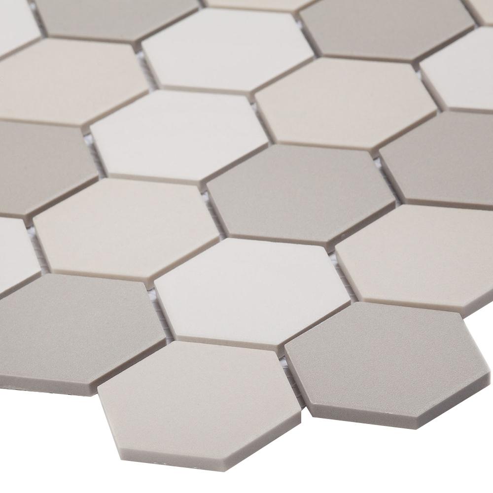 Мозаика Starmosaic Hexagon small LB Mix Antid бежевая керамическая 325х282х6 мм