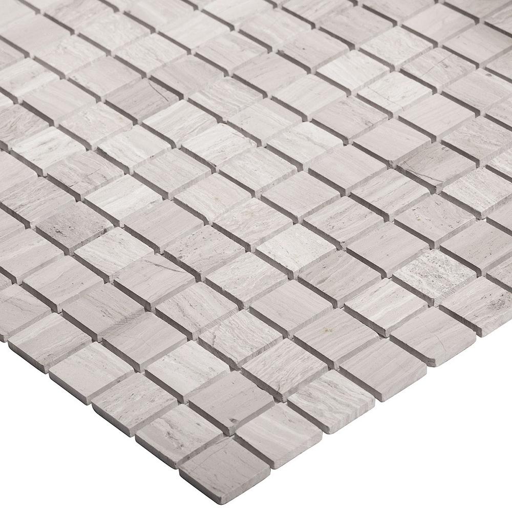 Мозаика Starmosaic Grey Polished серый мрамор из натурального камня 305х305х4 мм полированная