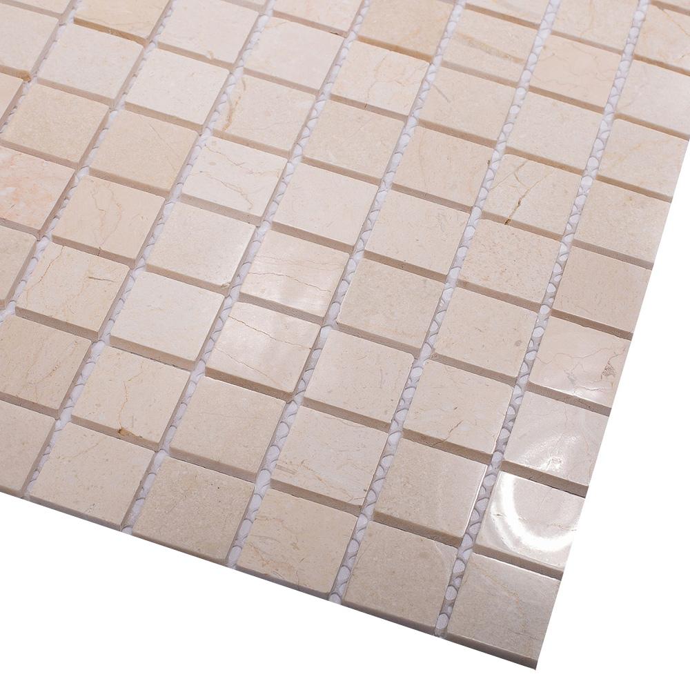 Мозаика Starmosaic Crema Marfil Polished бежевый мрамор из натурального камня 305х305х4 мм полированная