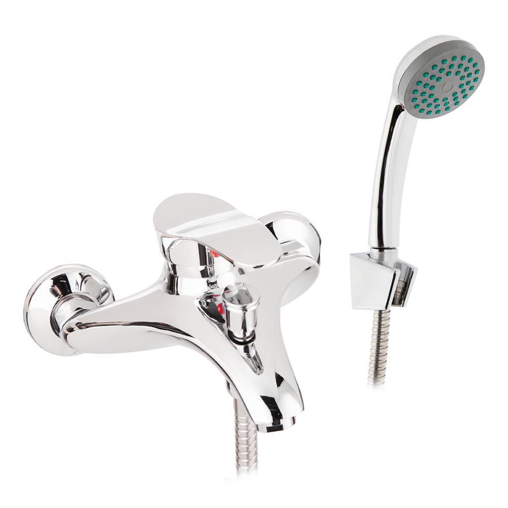 Смеситель для ванны и душа CORSA DECO Wave с коротким изливом однорычажный с лейкой