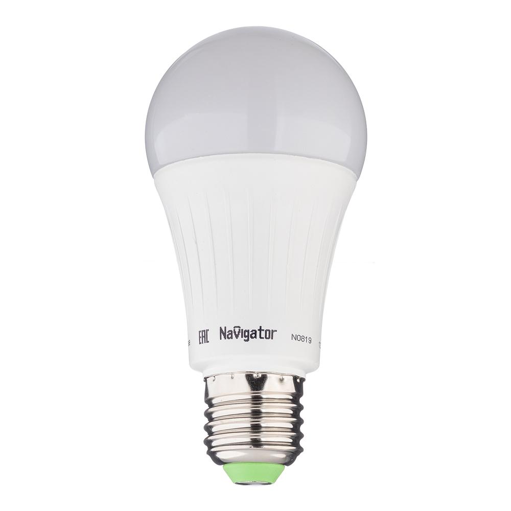 Лампа светодиодная Navigator 12 Вт E27 груша A60 4000 К дневной свет 230 В матовая диммируемая
