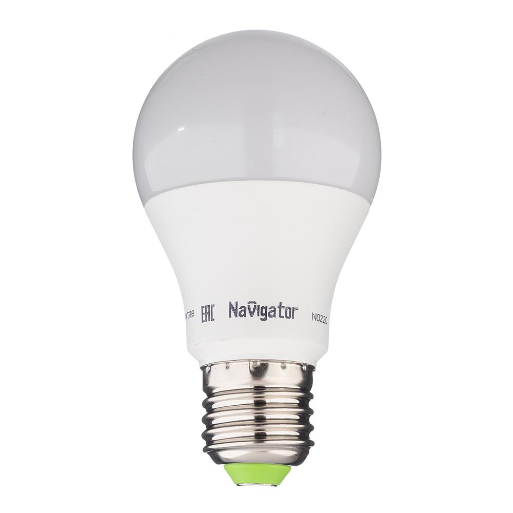Лампа светодиодная Navigator 10 Вт E27 груша A60 4000 К дневной свет 127 В матовая