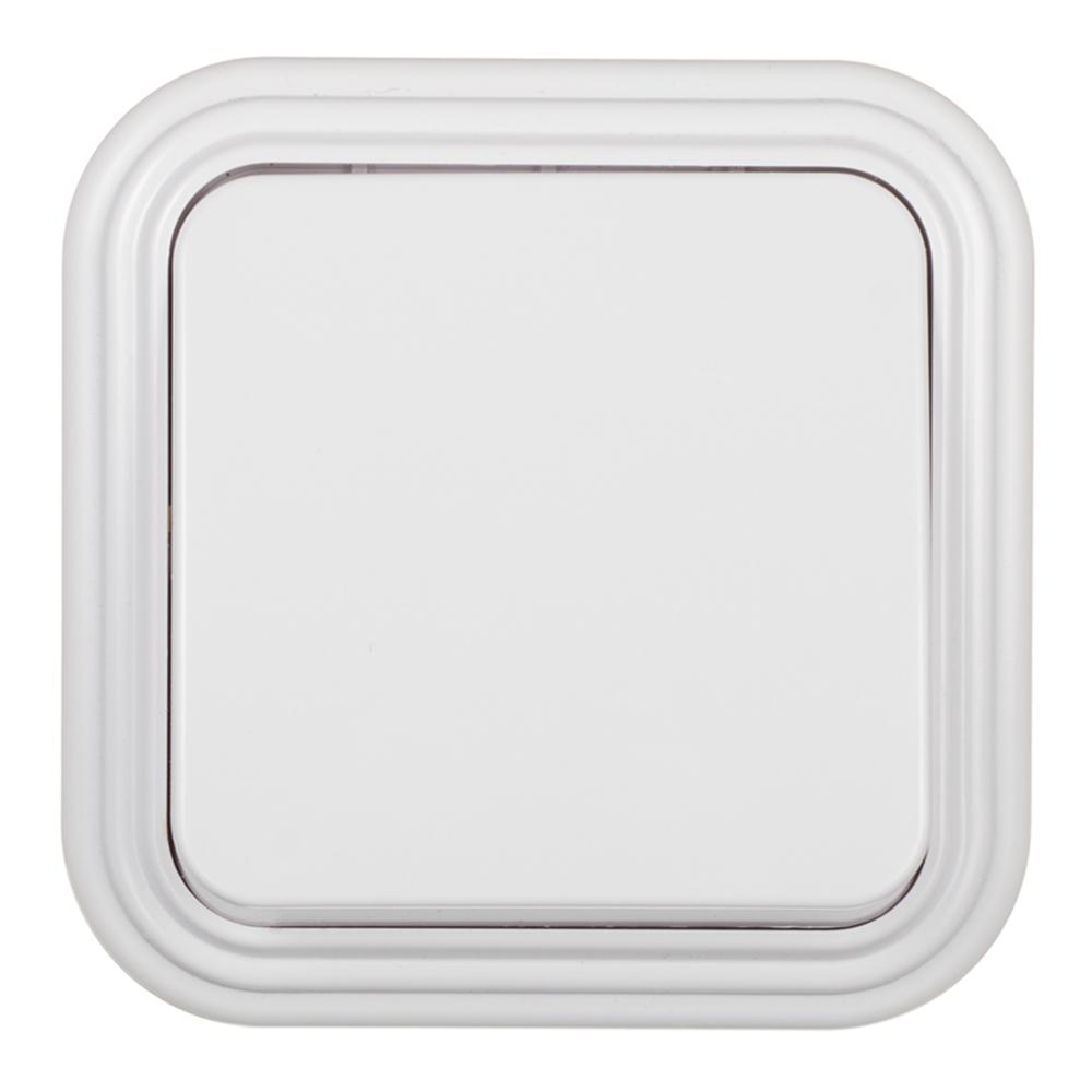 Выключатель SVET одноклавишный открытая установка белый