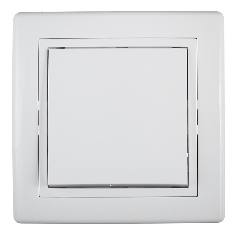 Выключатель с рамкой Aling-conel 605.000 одноклавишный скрытая установка белый