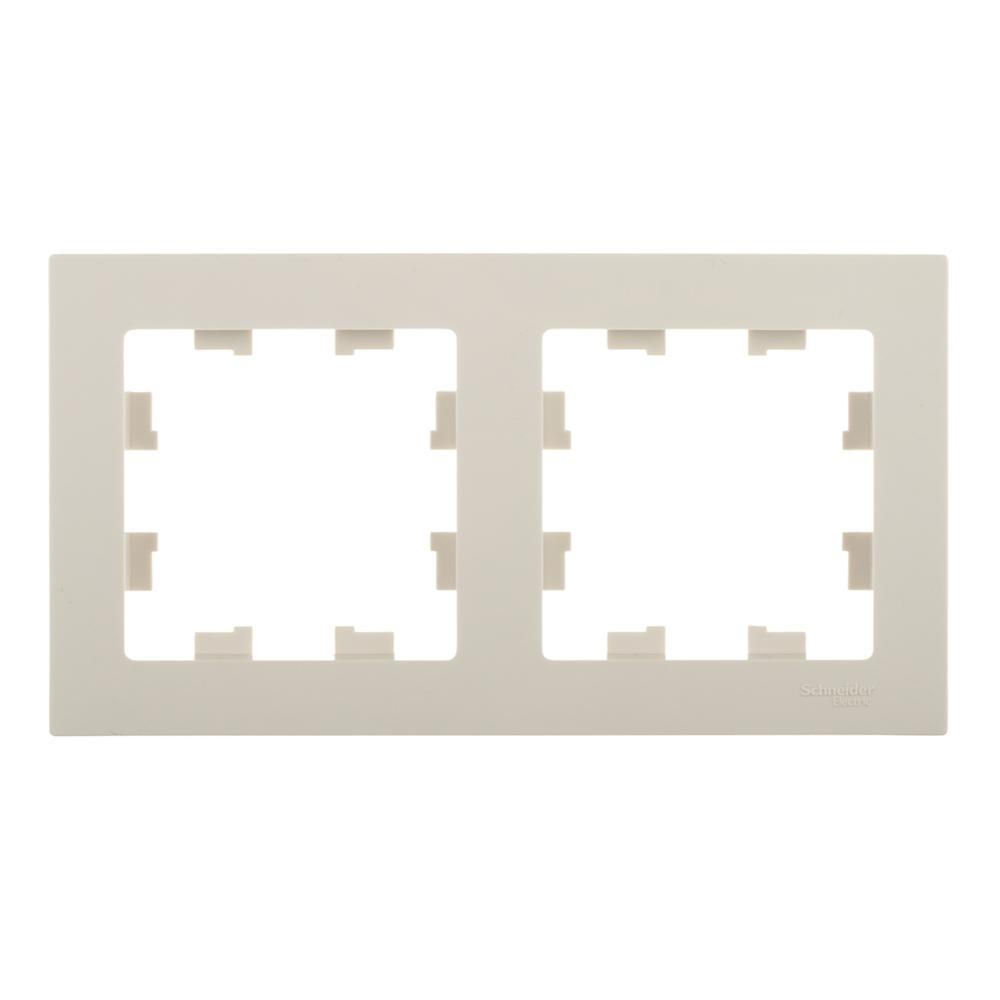 Рамка Schneider Electric Atlas Design ATN000202 двухместная универсальная бежевая