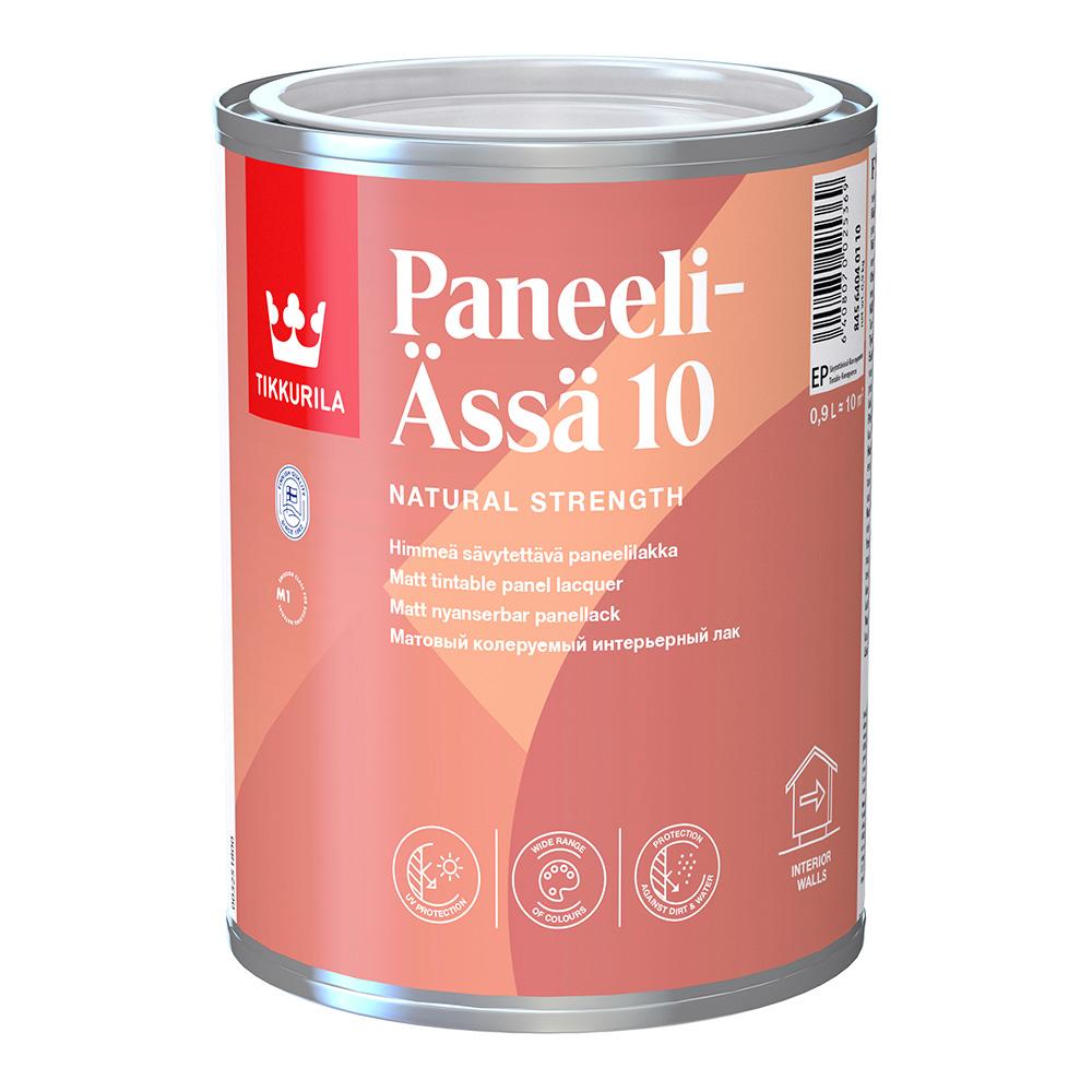 Лак акриловый Tikkurila Paneeli-Assa основа EP бесцветный 0,9 л матовый