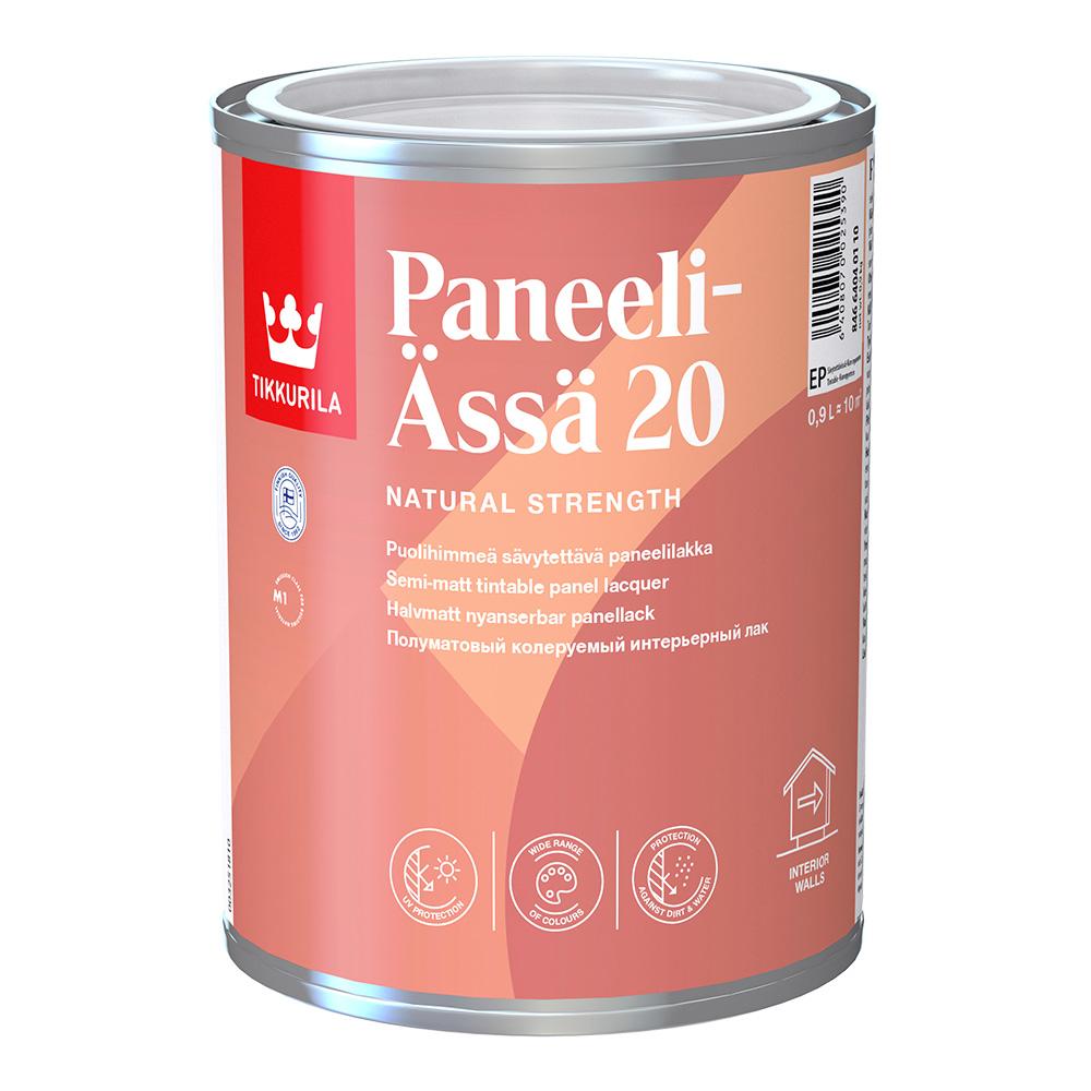 Лак акриловый интерьерный Tikkurila Paneeli-Assa 20 основа EP бесцветный 0,9 л полуматовый