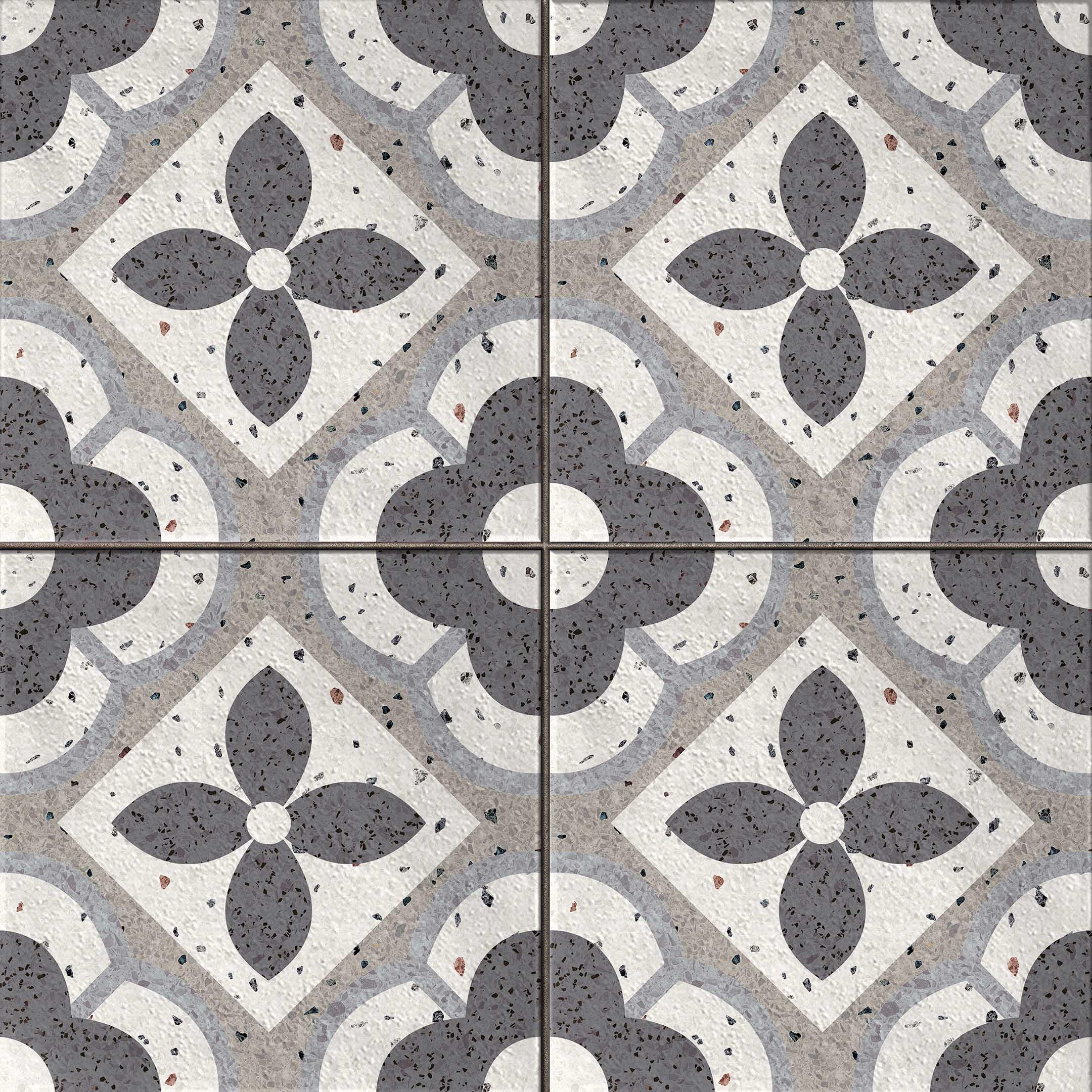 Керамогранит Cersanit Sevilla пэчворк серый 420х420х8,5 мм (9 шт.=1,58 кв.м)