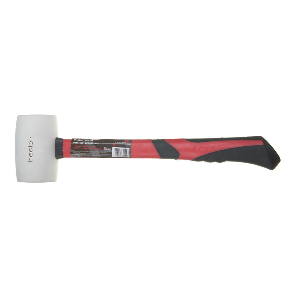 Киянка резиновая Hesler фибергласовая ручка белая 225 г