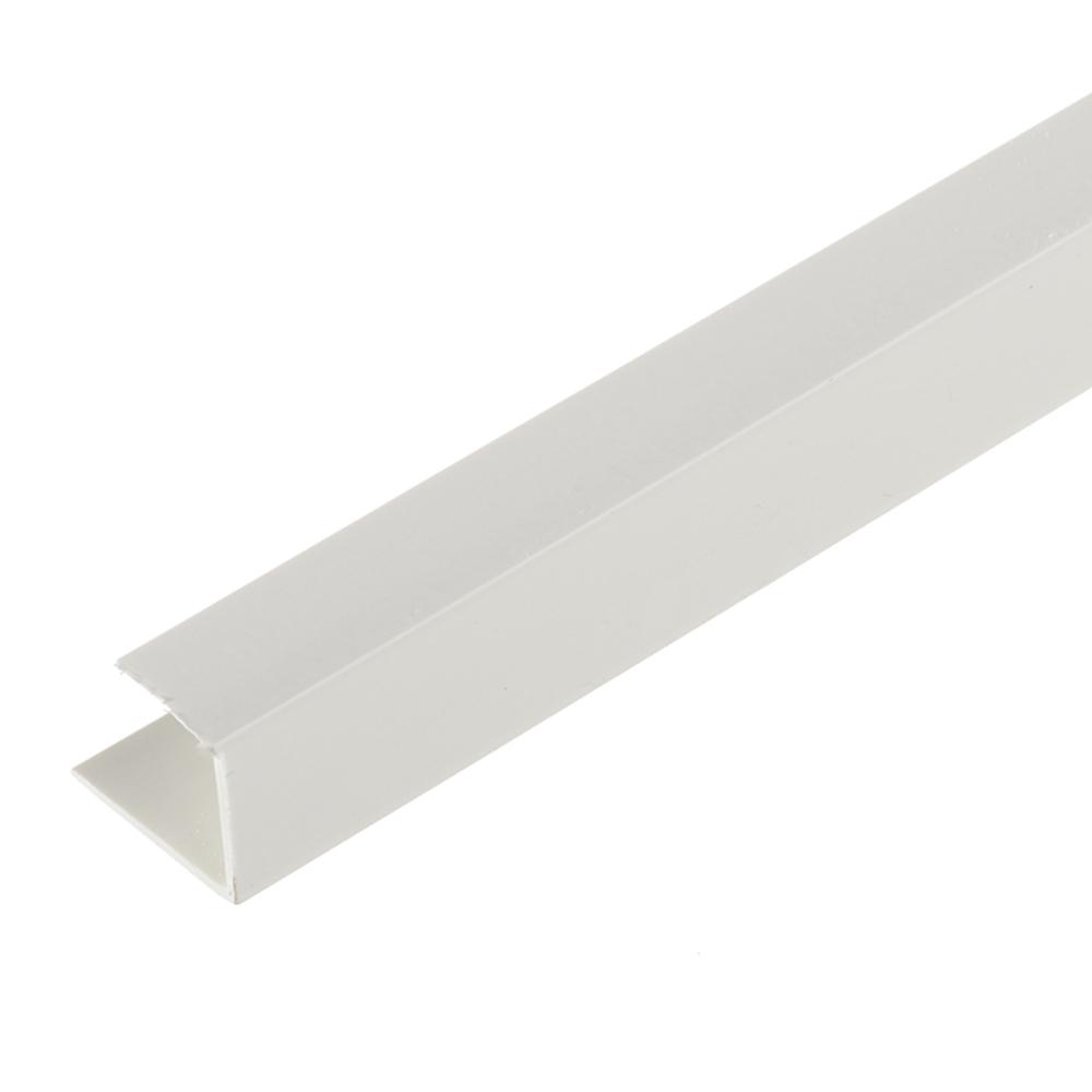 Профиль стартовый окантовочный для гипсокартона 12.5 мм 3 м пластиковый