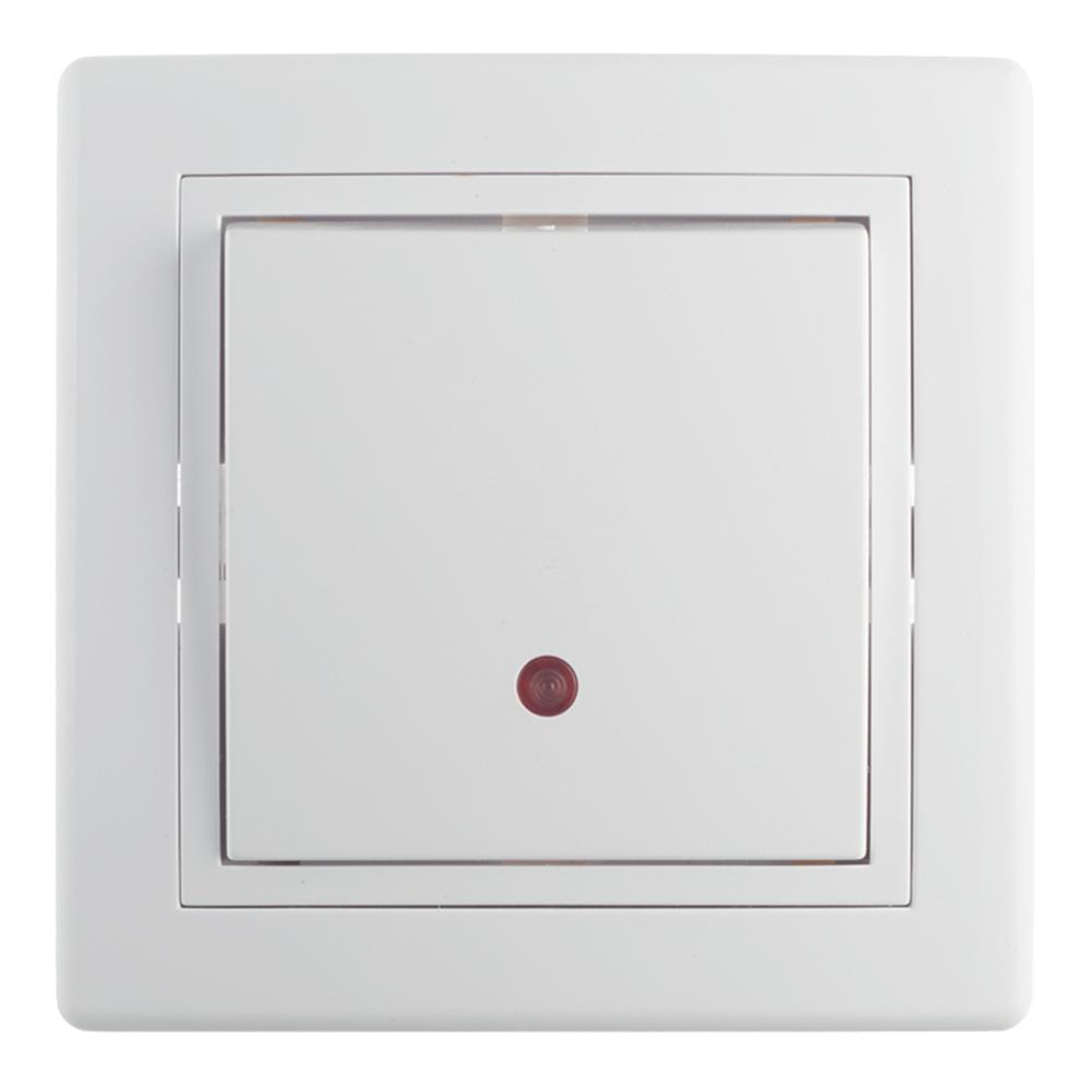 Переключатель с рамкой Aling-conel 627.000 одноклавишный на 2 направления скрытая установка белый с подсветкой