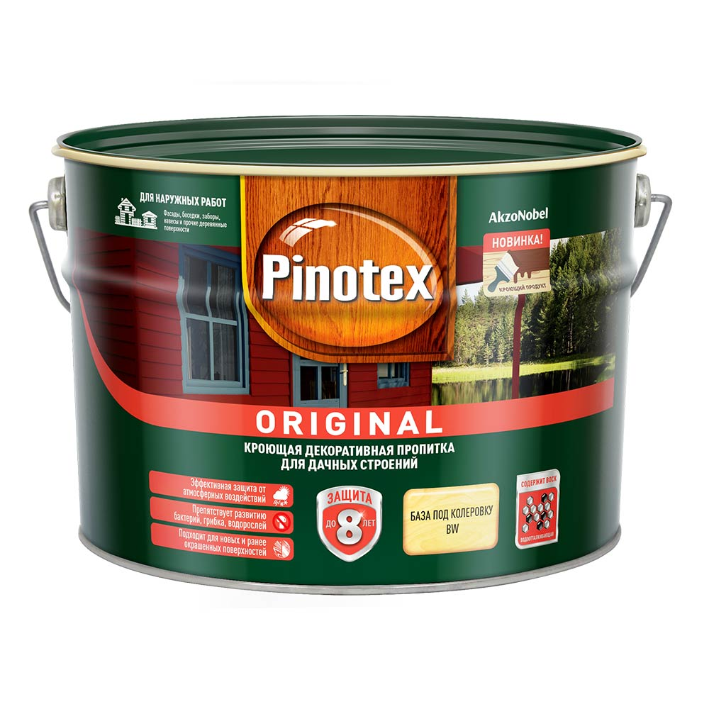 Антисептик Pinotex Original для дерева BW 9 л