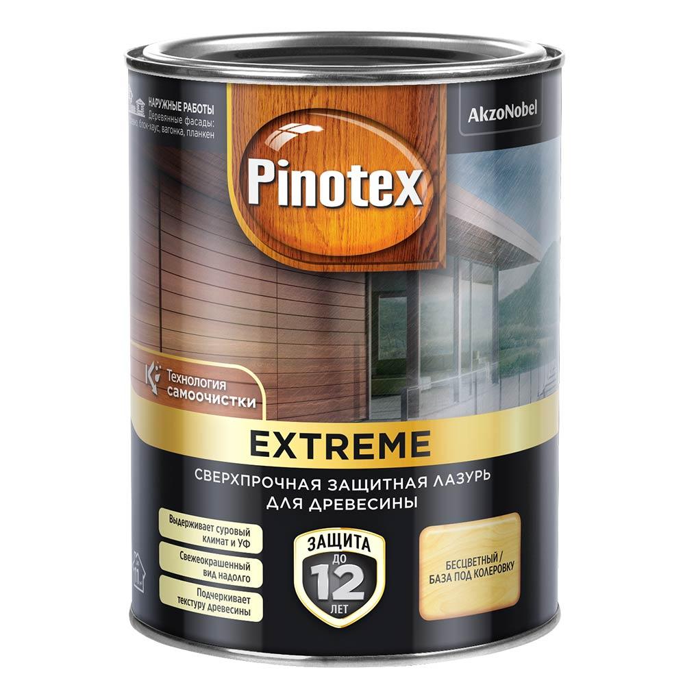 Лазурь Pinotex Extreme для дерева BC 0,9 л