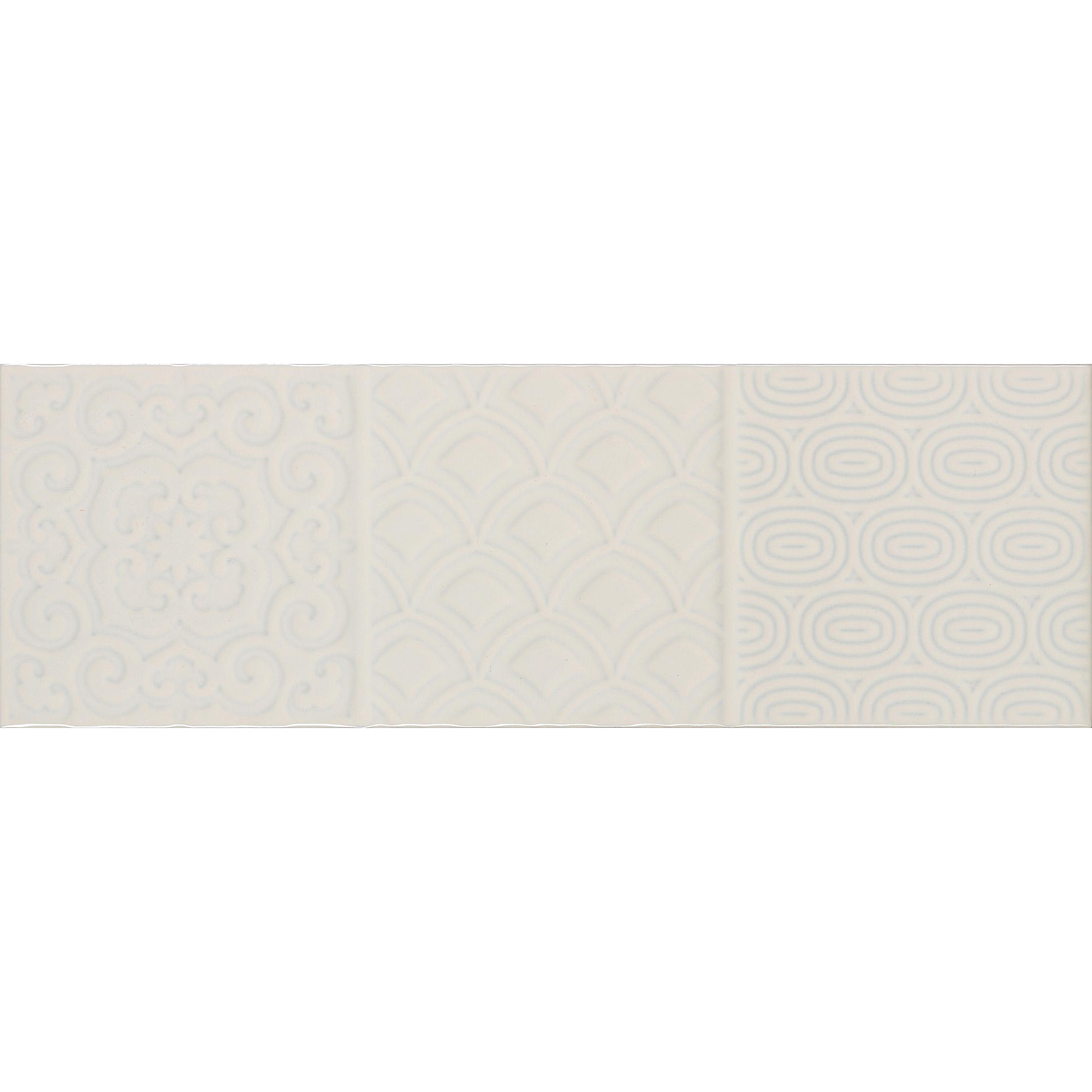 Плитка облицовочная Monopole Esencia relieve crema brillo микс из 6 плиток 100x300x8 мм (34 шт.=1,02 кв.м)