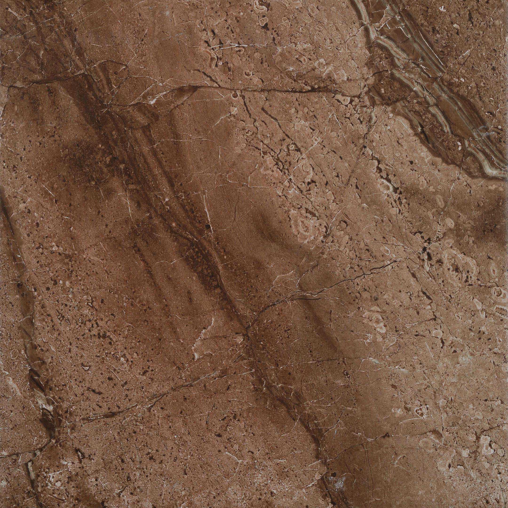 Керамогранит Керамин Мокка коричневый 3п 400x400x8 мм (11 шт.=1,76 кв.м)