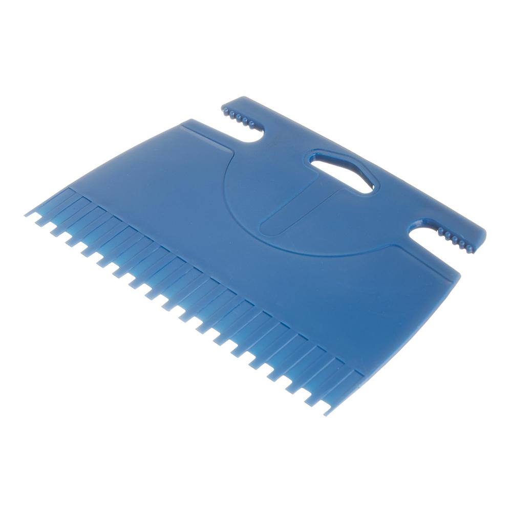 Шпатель для клея зубчатый 180 мм B2 пластиковый синий пластиковый