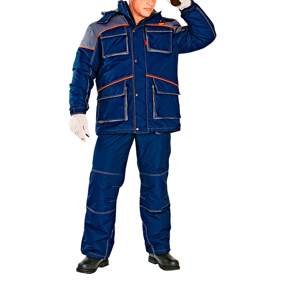Костюм рабочий утепленный Спец 44-46 рост 170-176 см цвет темно-синий/серый