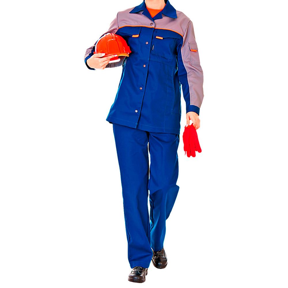 Костюм рабочий Леди Спец-1 44-46 рост 158-164 см цвет темно-синий/серый костюм рабочий утепленный спец 44 46 рост 158 164 см цвет темно синий серый