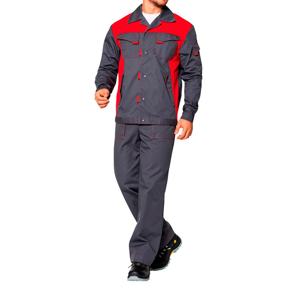Костюм рабочий Спец-1 48-50 рост 170-176 см цвет серый/красный платье oodji ultra цвет красный белый 14001071 13 46148 4512s размер xs 42 170