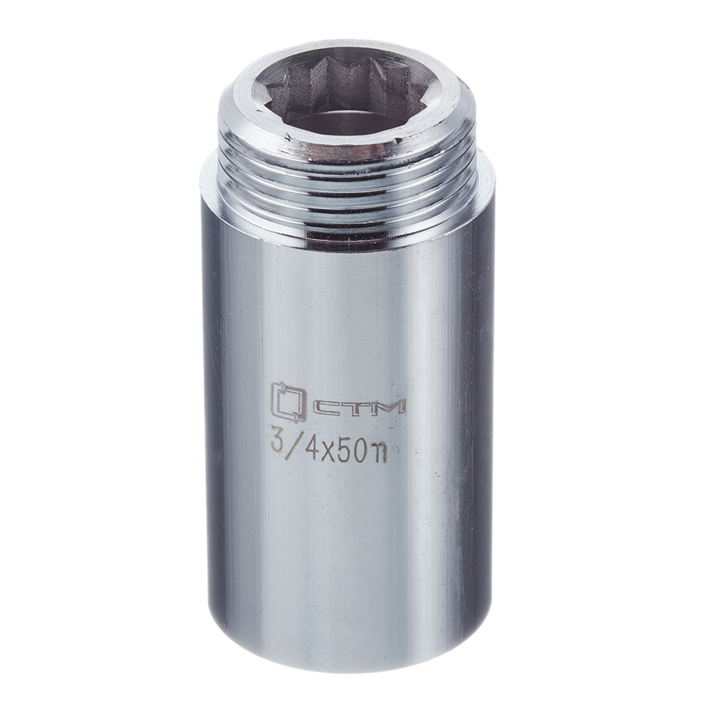 Фото - Удлинитель 50 мм х 3/4 ВР(г) х 3/4 НР(ш) латунный удлинитель 20 мм х 3 4 вр г х 3 4 нр ш латунный