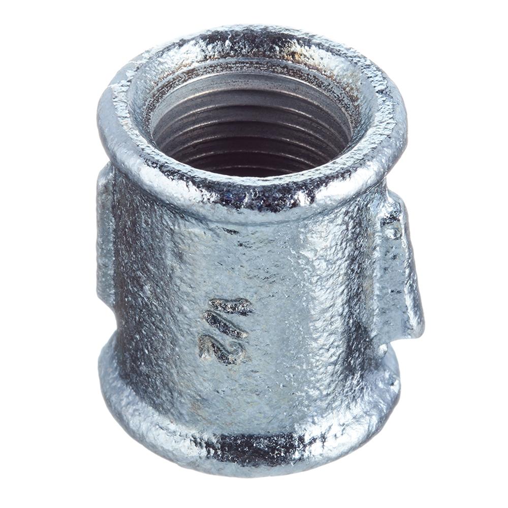 Муфта прямая Gebo (270-4V) 1/2 ВР(г) х 1/2 ВР(г) чугунная оцинкованная