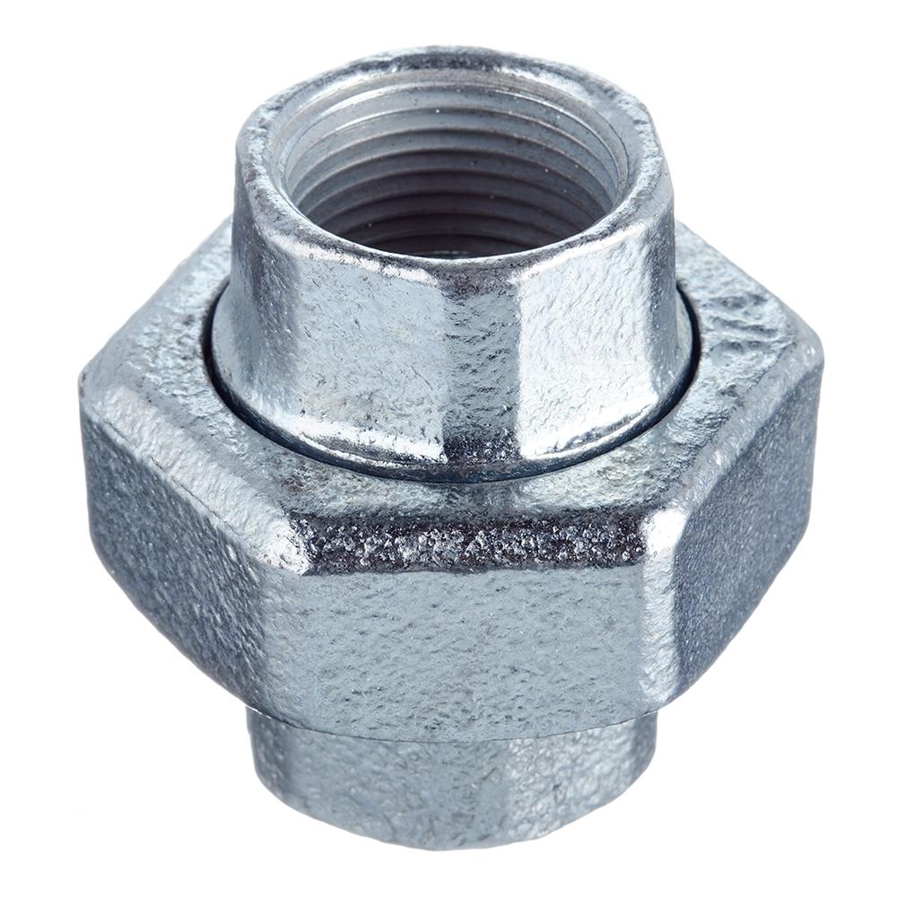 Муфта разъемная Gebo (330-5V) 3/4 ВР(г) х 3/4 ВР(г) с накидной гайкой чугунная оцинкованная