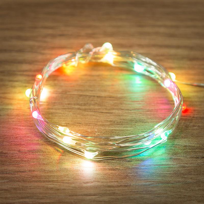 Гирлянда светодиодная Neon-Night Роса 20 LED свечение RGB 2 м (303-009)