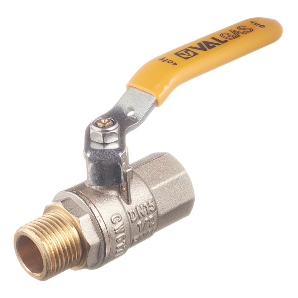 Кран шаровой газовый Valtec (VT.271.N.04) 1/2 ВР(г) х 1/2 ВР(г) ручка
