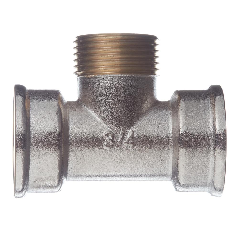 Фото - Тройник переходный 3/4 ВР(г) х 3/4 НР(ш) латунный удлинитель 20 мм х 3 4 вр г х 3 4 нр ш латунный
