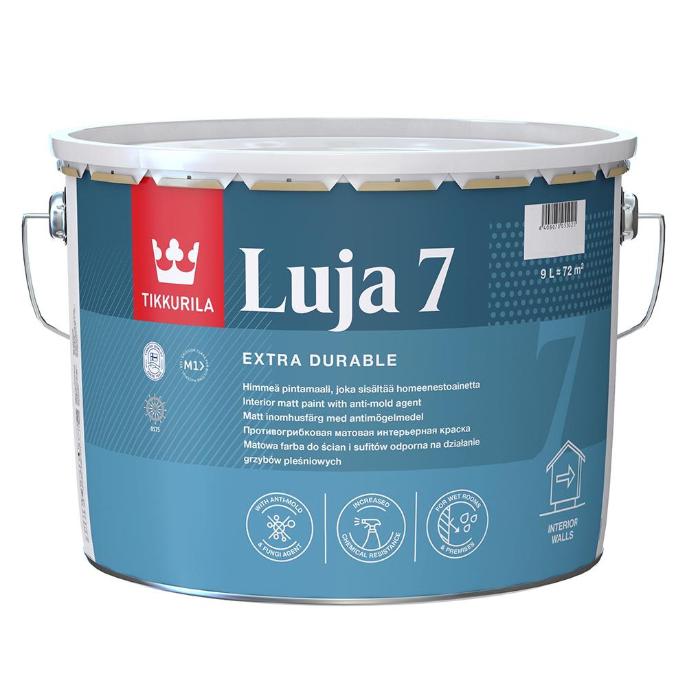 Краска водно-дисперсионная Tikkurila Luja 7 Himmea моющаяся основа C 9 л