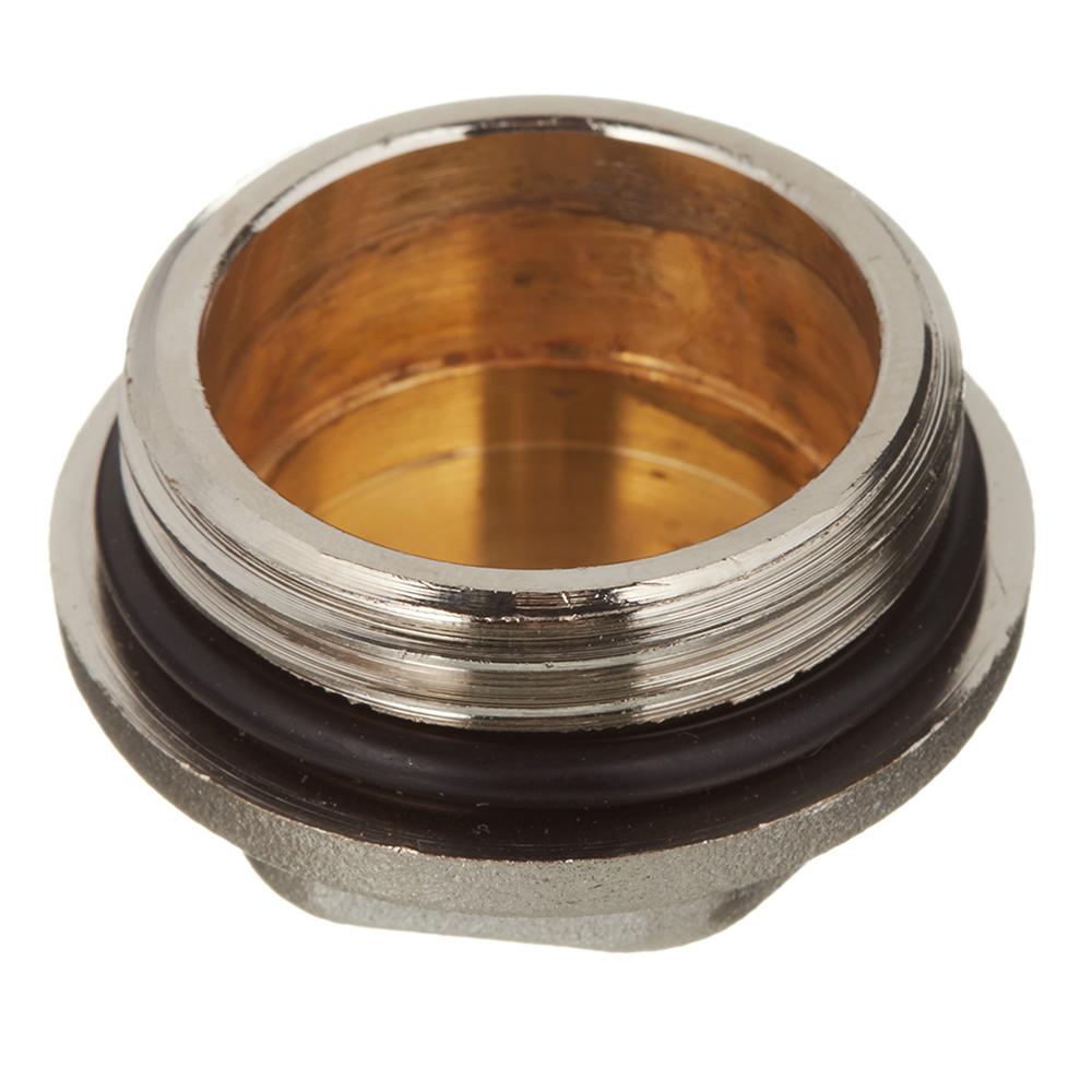 Заглушка никелированная латунь Rehau (11316551001) 1 НР(ш)