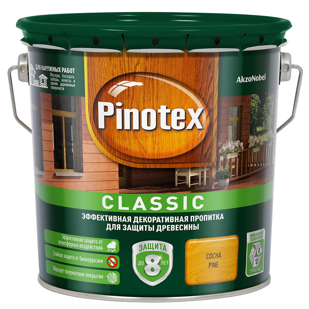 Антисептик Pinotex Classic декоративный для дерева сосна 2,7 л