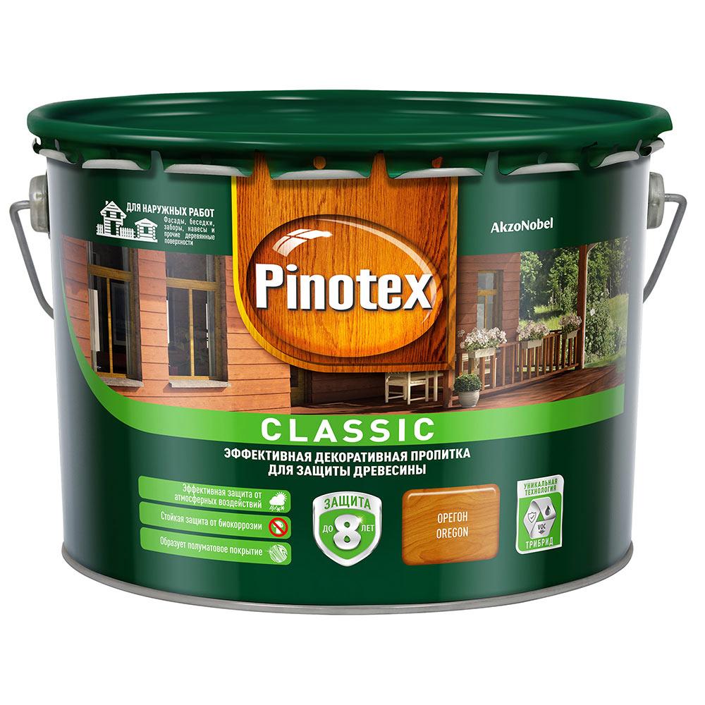 Антисептик Pinotex Classic декоративный для дерева орегон 9 л