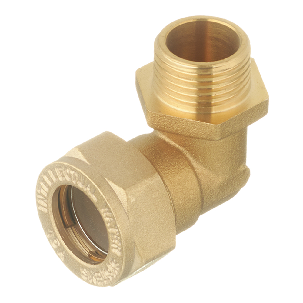 Угол Neptun IWS EasyFix 90° 15 мм х 1/2 НР(ш) для гофрированных труб