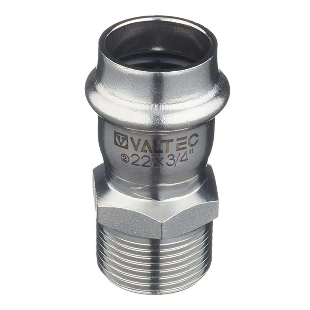 Соединитель Valtec (VTi.901.I.002205) 22 мм х 3/4 НР(ш) нержавеющая сталь