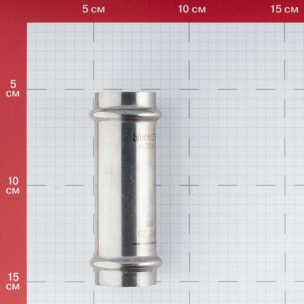 Муфта Valtec (VTi.904.I.002828) 28х28 мм надвижная нержавеющая