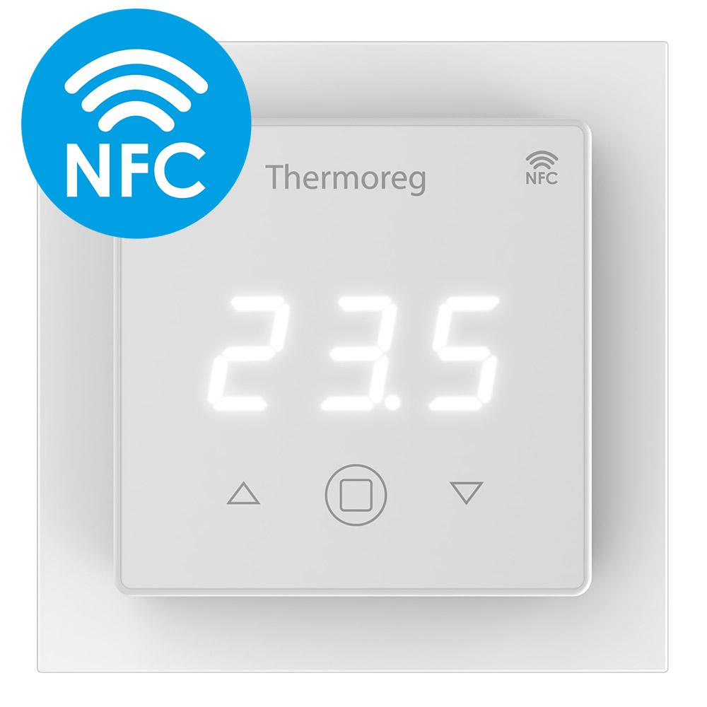 Терморегулятор электронный сенсорный для теплого пола Thermo TI-700 NFC белый с поддержкой NFC терморегулятор stout ti n