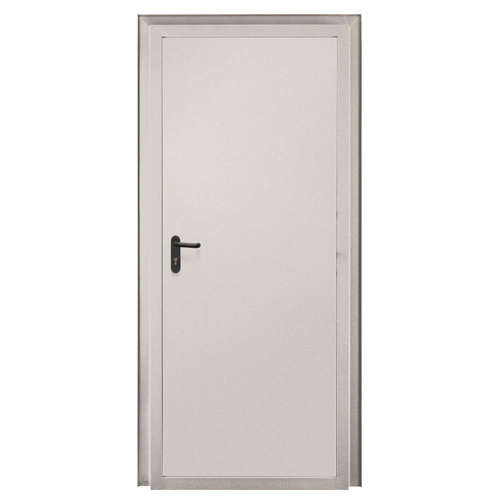 Дверь противопожарная Промет ДП-EIS-60 серый (7035) глухая левая 950х2050 мм