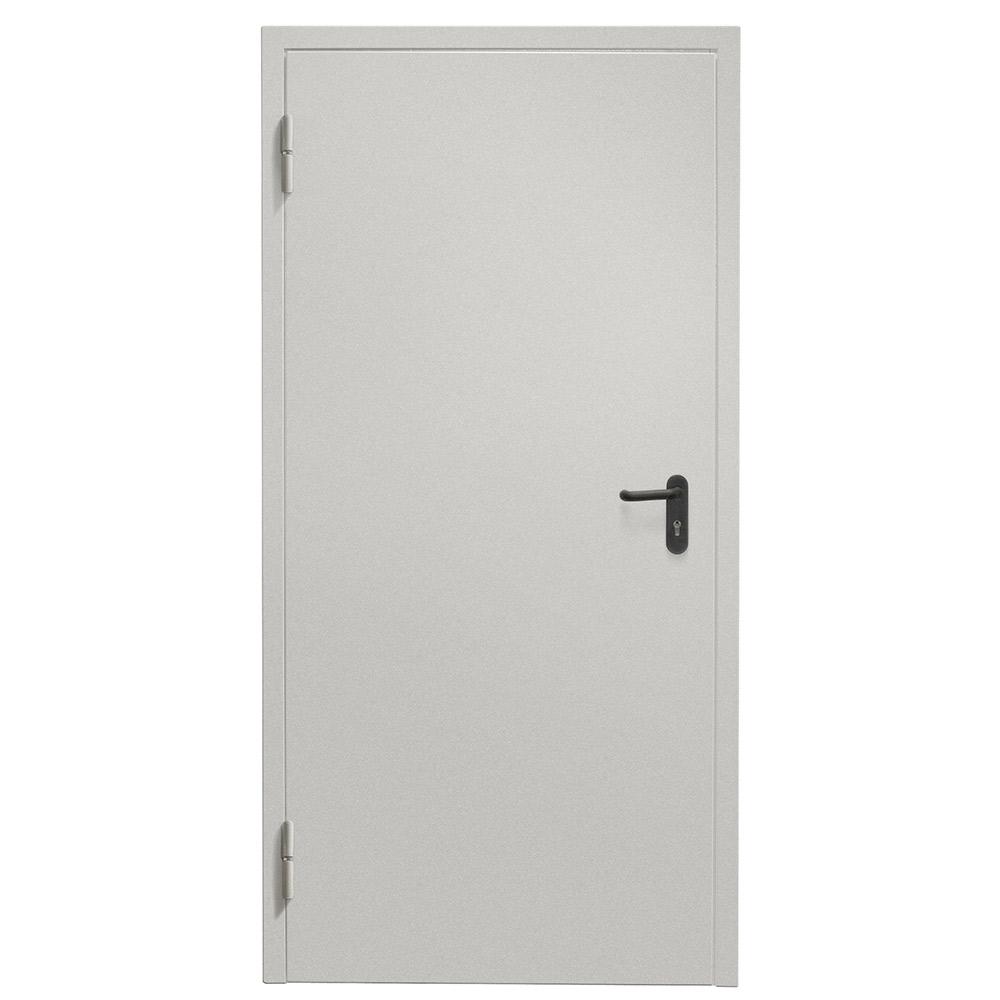 Дверь техническая Промет ДТ-1 серый (7035) глухая левая 950х2050 мм