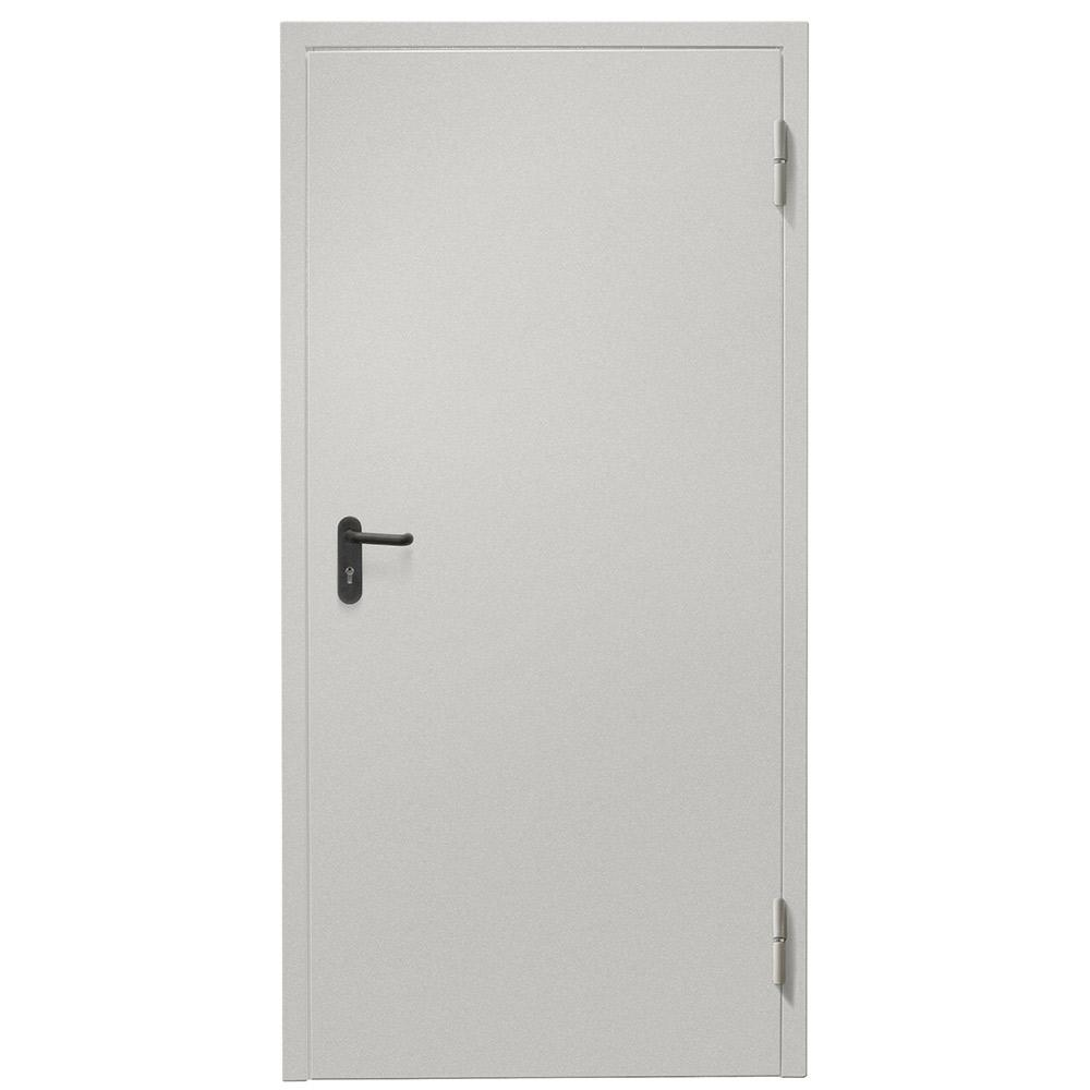 Дверь техническая Промет ДТ-1 серый (7035) глухая правая 950х2050 мм