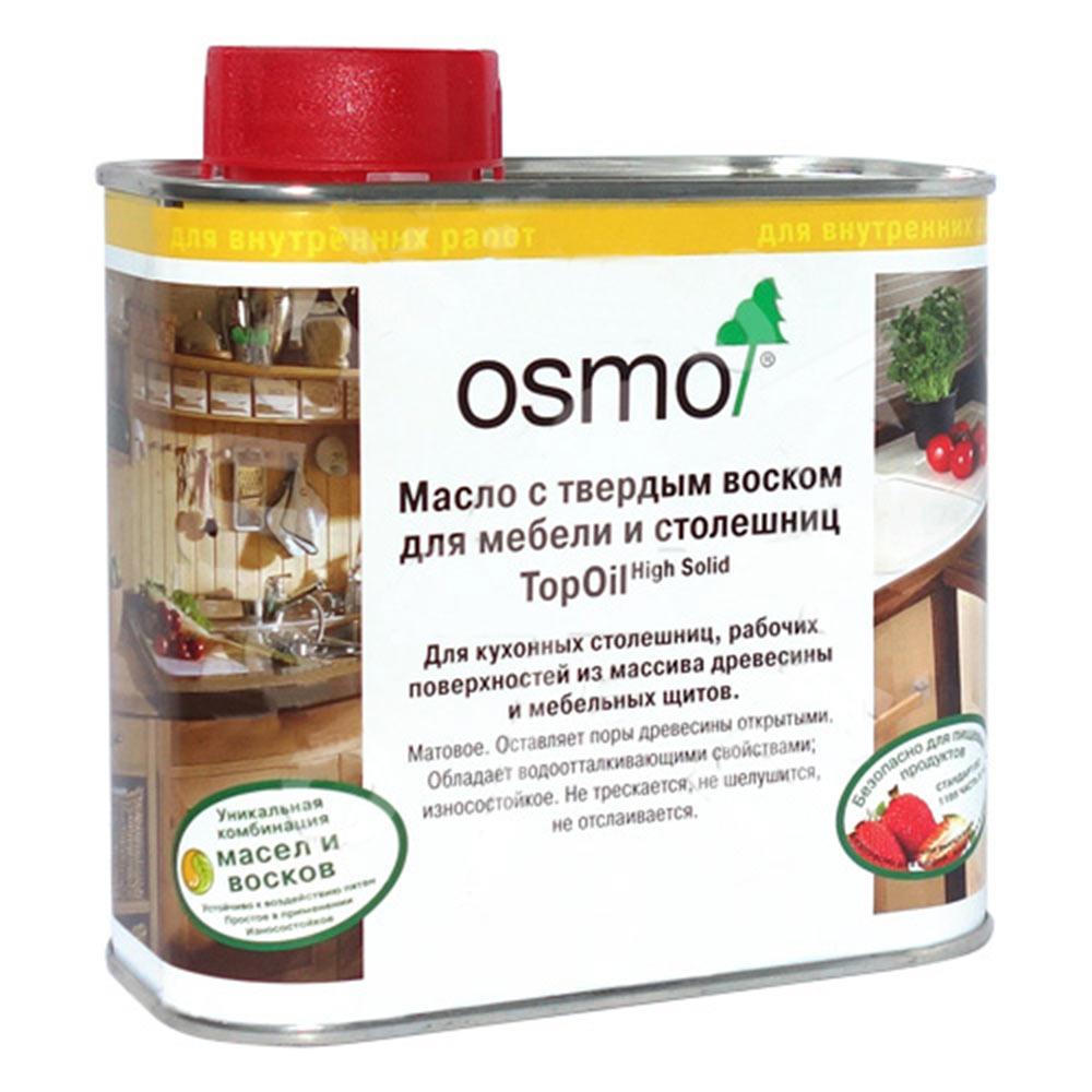 Маслодлямебели и столешниц с твердым покрытием Osmo Topoil бесцветное матовое 0,5 л