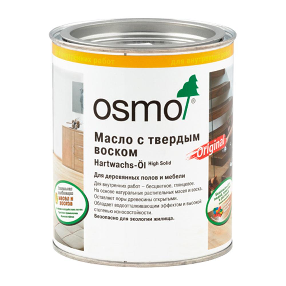 Маслодля деревянных полов и мебели с твердым покрытием Osmo Original бесцветное шелковисто-матовое 0,75 л