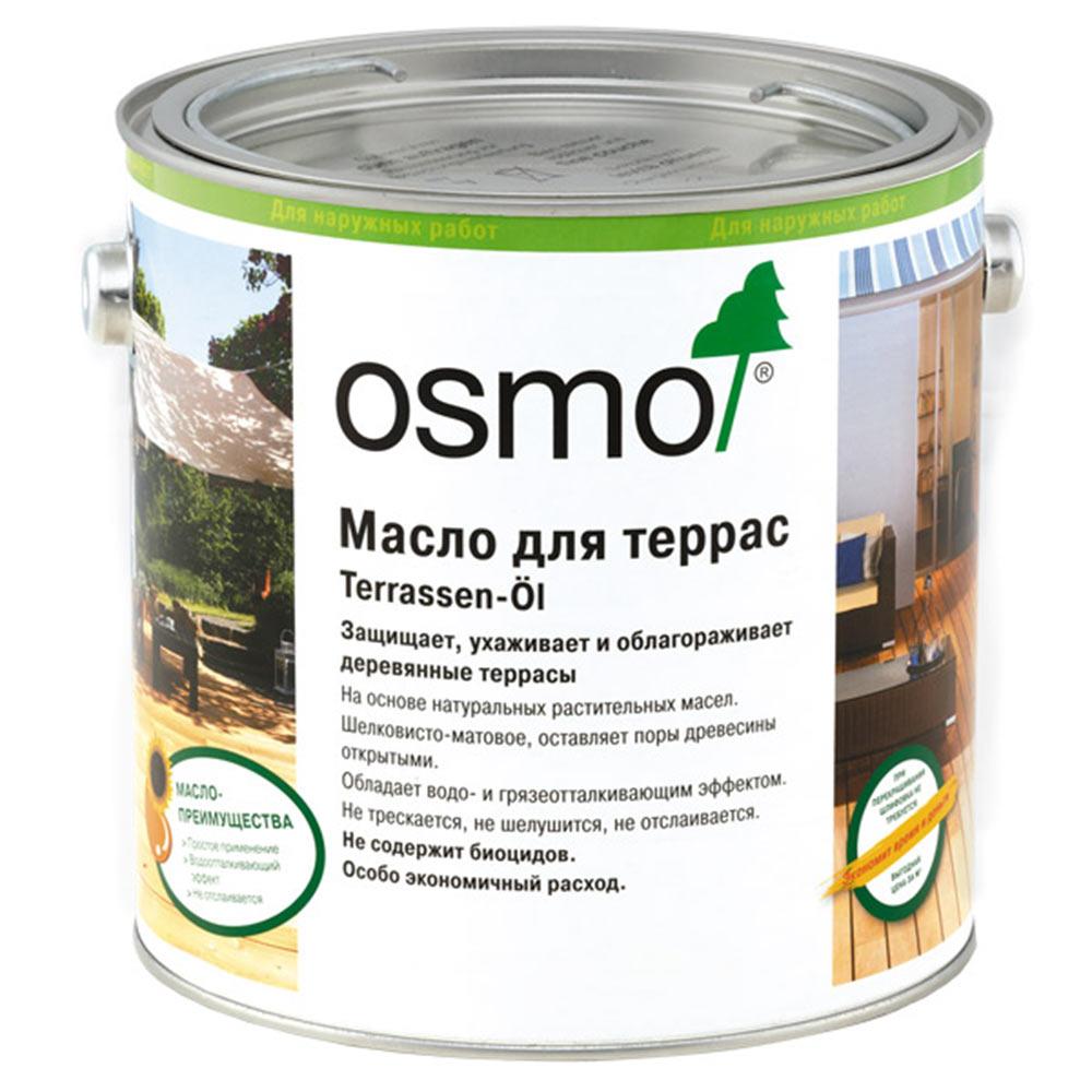 Масло для террас Osmo Terrassen-Оle термодревесина полуматовое 2,5 л