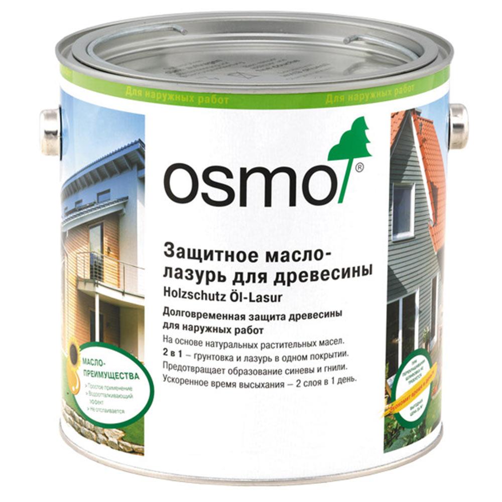 Масло-лазурь для дерева защитное Osmo Holzschuts Ol-Lasur дуб светлый полуматовое 2,5 л