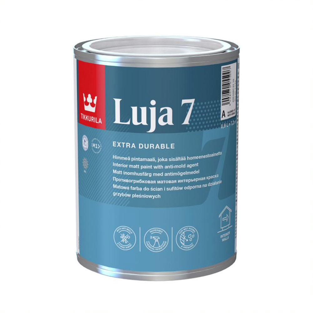 Краска водно-дисперсионная моющаяся Tikkurila Luja 7 Himmea основа C 0,9 л